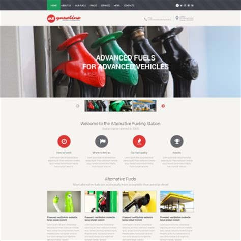 Gas Website Templates Oil Website Templates Gas Station Website Template