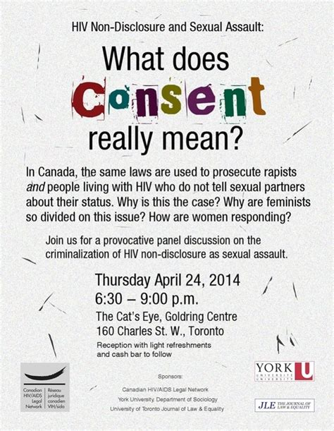 what does it mean when someone is sectioned hiv non disclosure and sexual assault what does consent