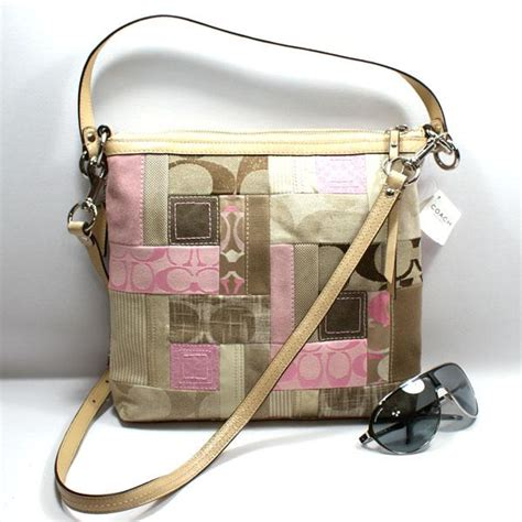 Pink Patchwork Coach Purse - bolsos de trapillo coach pink patchwork purse