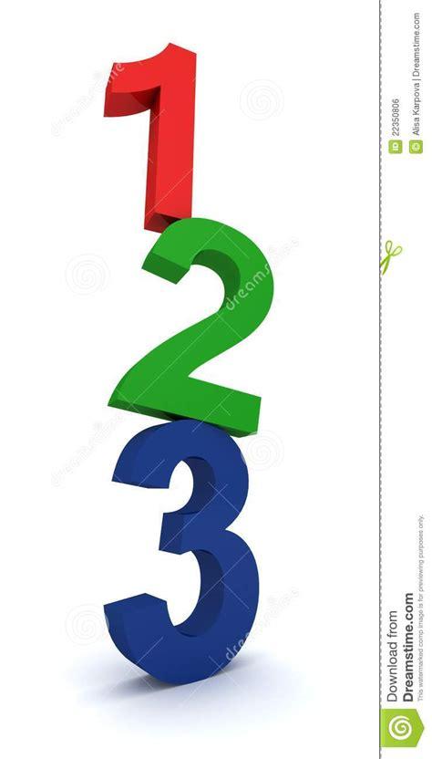 2 1 2 by 3 1 2 card template 1 2 3 bunte zahlen auf wei 223 stockfoto bild