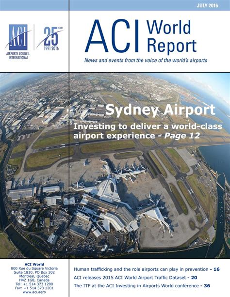 aci customer experience management summit 2015 aci aci world report july 2016 by airports council