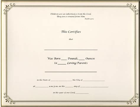 blank birth certificate template blank birth certificate templates www imgkid the