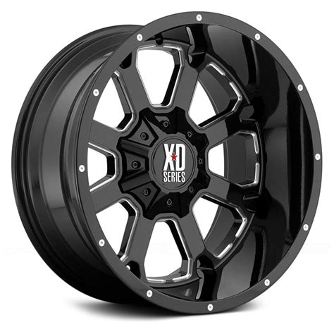 xd series wheels xd series 174 xd825 wheels gloss black with milled accents rims