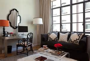 sikawa home business design black velvet high back sofa nailhead trim charcoal gray