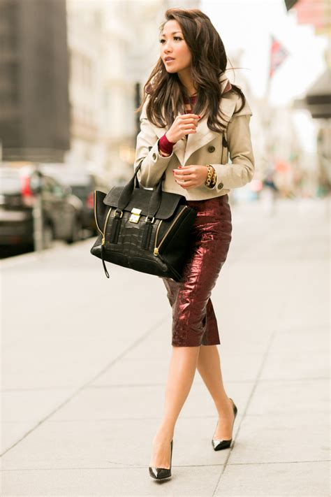 Cropped Trench Coats Stylecrazy A Fashion Diary fall ready metallic skirt cropped trench wendy s