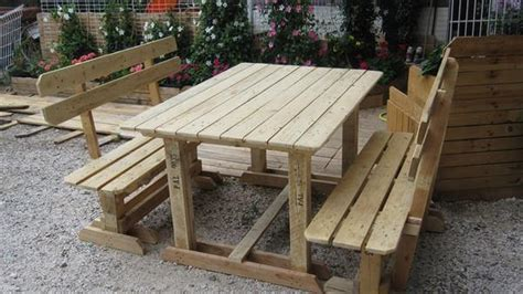 picnic bench out of pallets diy pallet picnic table with benches 99 pallets