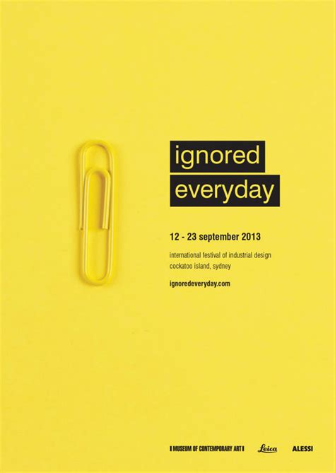 visual communication design inspiration ignored everyday industrial design festival caign