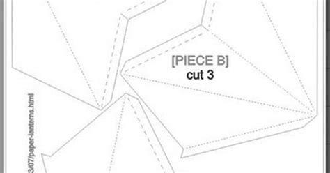3d Lantern Template diy paper lanterns with free cutting file and pdf