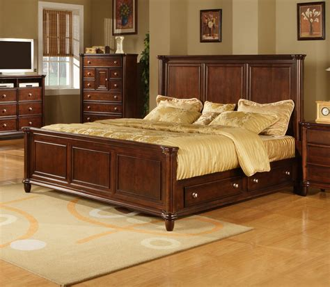 hamilton bedroom set hamilton storage bedroom set dark cherry finish