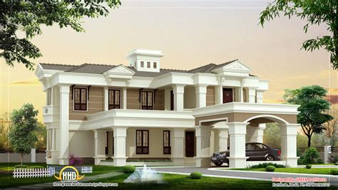 luxury home plans with photos beautiful luxury villa design 4525 sq ft kerala home