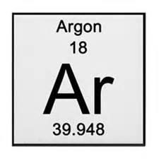 periodic table argon coasters cork puzzle tile
