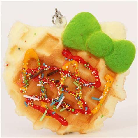 Squishy Hello Waffle hello waffle green bow squishy charm food squishies