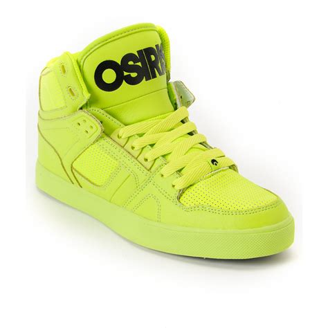 lime green sneakers osiris nyc 83 vulc lime green high top from zumiez shoes