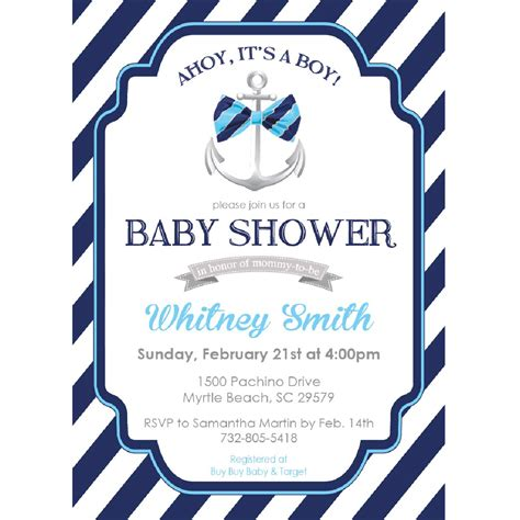 Ahoy Baby Boy Baby Shower by Ahoy Its A Boy Baby Shower Invitations Home Design Ideas