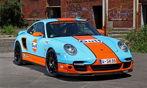 gulf car gulf racing livery by cam shaft for the porsche 911 turbo