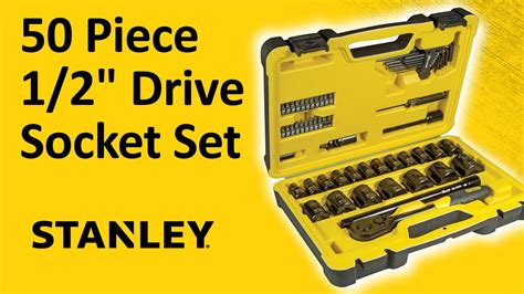 Stanley 88 187 1 23 Socket Std 12dr 12pt 36mm unboxing stanley 50 1 2 quot drive socket set