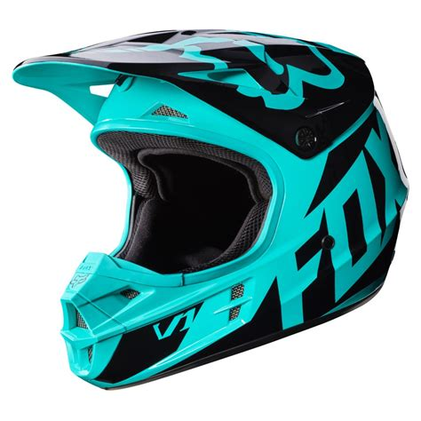 2017 Fox V1 Race Helmet Green Fox Motocross Helmets