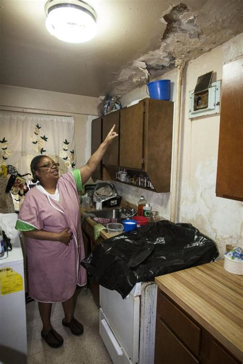 Water Damage Apartment Ceiling by Tenants Of Nycha Building In Harlem Fear Asbestos Ny