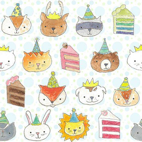 design pattern decorator c birthday party pets fabric on spoonflower also available