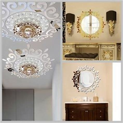 bathroom mirror decals mirror floral wall stickers art decal mural removable home