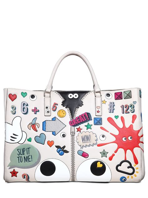 Anya Hindmarch Need Bags by Lyst Anya Hindmarch Sticker Tote Bag In White Save 23