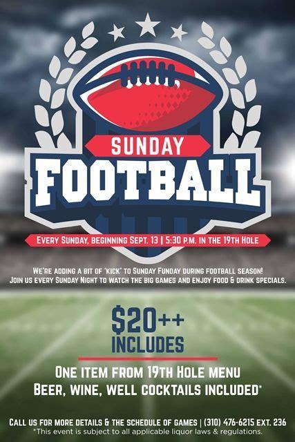 design flyer football sunday football flyer poster event design template