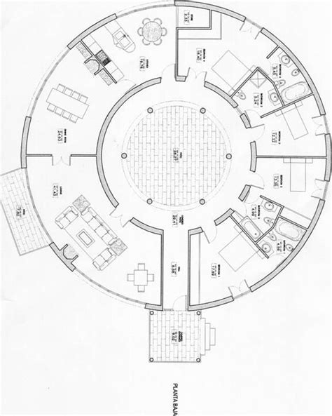 roundhouse floor plan round house plans round house floor plans house plans