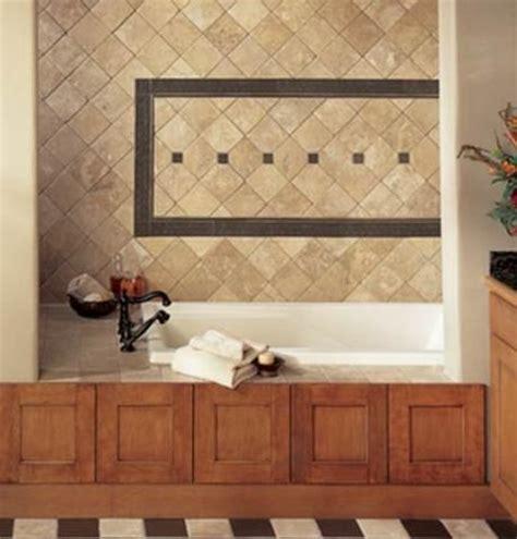 wood around bathtub loving the wood trim around tub