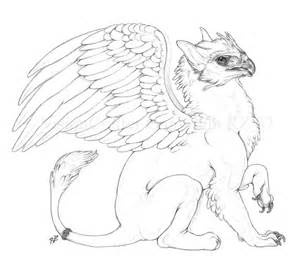 gryphon coloring pages side by visioncrafter sketch template