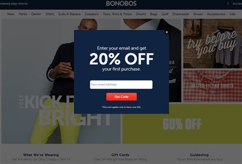Indeed Smart Popup For V4 8 exle of newsletter popup on an ecommerce site