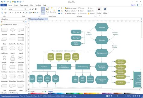 flow maker flowchart maker microsoft office excel diagram