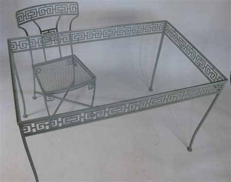 Vintage Wrought Iron Table And Chairs by Vintage Wrought Iron Key Dining Table And Chairs At