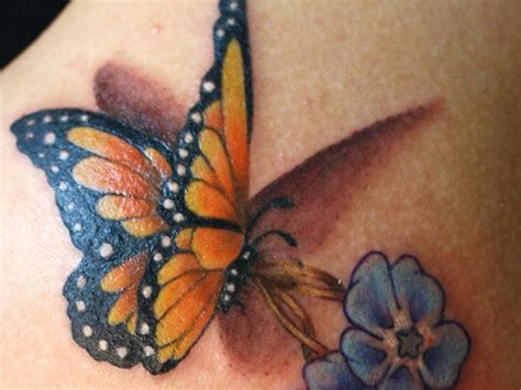 3d tattoo designs flowers 50 amazing 3d butterfly tattoos