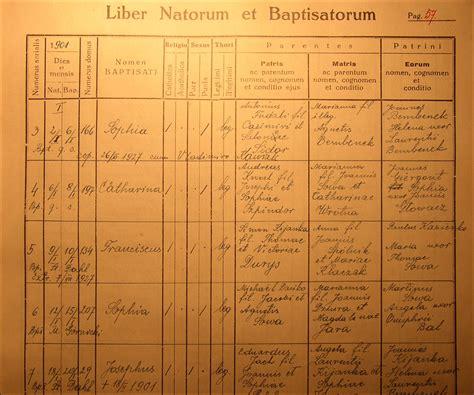 Birth Time Records S Birth In Nienadowa Steve S Genealogy