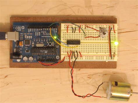 arduino code h bridge tutorial set up a l293 h bridge motor driver