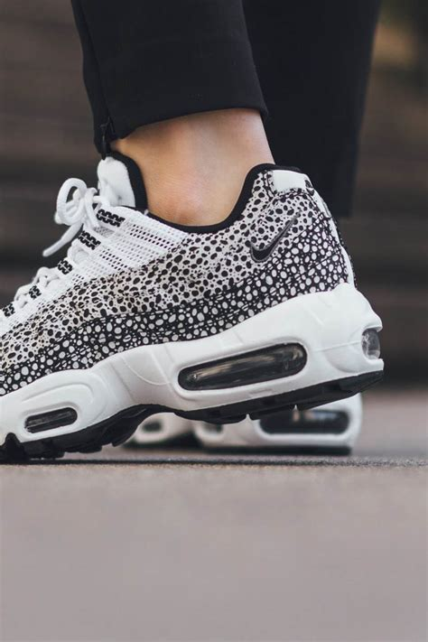black and white pattern nikes nike air max 95 premium with dot pattern black white