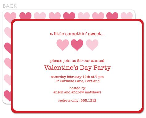 lovely valentine s day invitation card sle with red