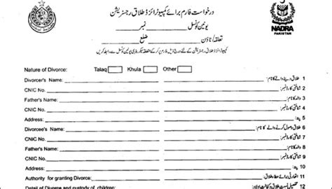Divorce Letter To In Urdu Nadra Divorce Certificate Sle Verification How To Get It