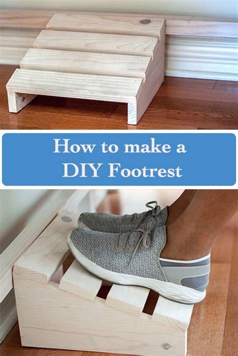 easy diy footrest  scrap wood pretty handy girl