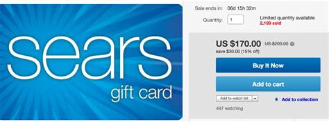 Sears Gift Card Deals - get sears 200 gift card for 170 better than last week running with miles