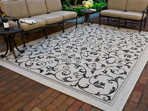 courtyard indoor outdoor contemporary area rug multi
