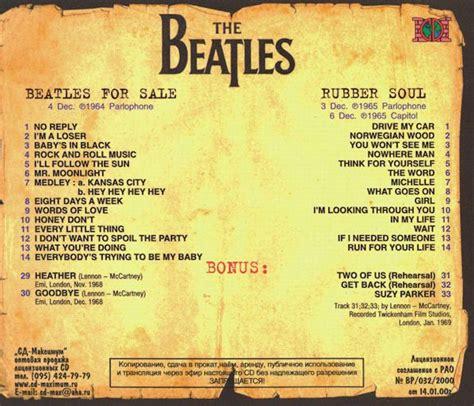 beatles cd beatles  sale rubber soul