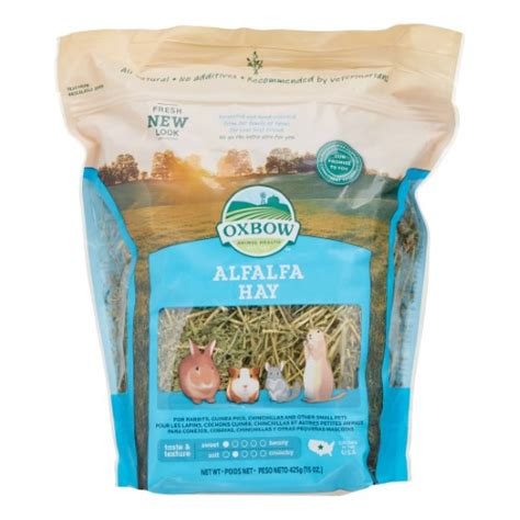 Alfalfa Hay Oxbow oxbow alfalfa hay small animal food 15 oz jet