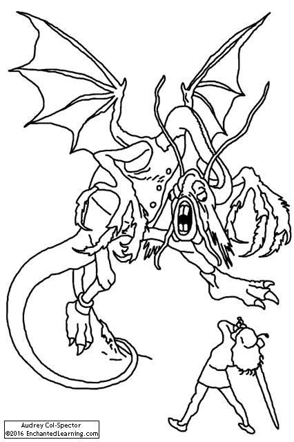 printable version of jabberwocky the jabberwock enchanted learning