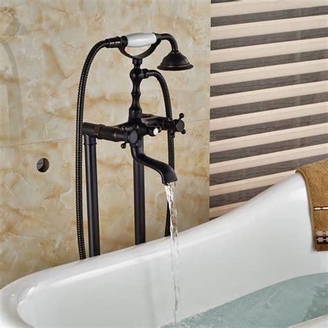 Bronze Bathtub Faucet Vrijstaande Badkraan Luxe Los Staande Klassieke Olie Brons