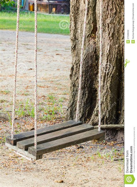 old wooden swing wooden swing stock photography image 27599532