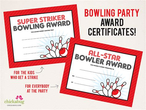 bowling certificate template free 75 page bowling printables kit bowling