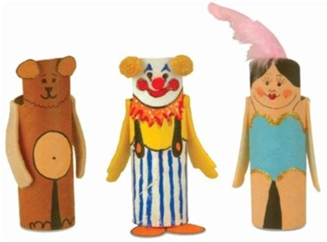 How To Make A Puppet With Paper - circus act finger puppets circus act finger puppets