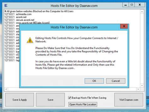 best free hosts hosts file editor 1 0