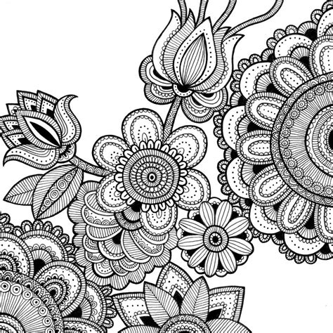 Intricate Floral Coloring Pages | intricate flower coloring pages coloring home